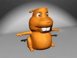 Cartoon Marmot 3d model