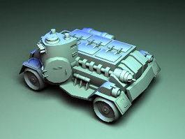 Sci-Fi Fighting Vehicle 3d model