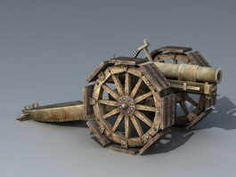 Vintage Artillery 3d model