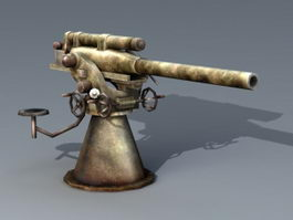 Anti-Aircraft Cannon 3d model