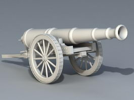 Old Artillery Cannon 3d model