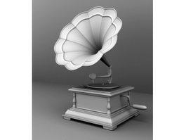 Phonograph 3d model