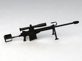 50 Cal Sniper Rifle 3d model