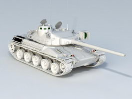 French AMX Tank 3d model