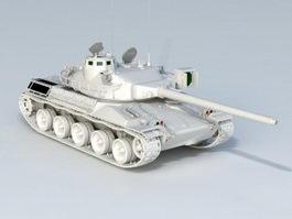 French AMX Tank 3d model