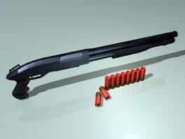 Shotgun & Shells 3d model