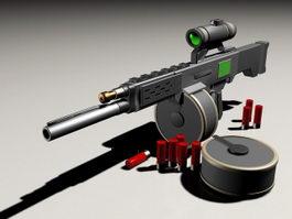 USAS-12 Automatic Shotgun 3d model