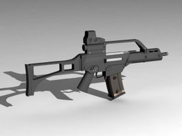 G36C Assault Rifle 3d model