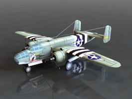B-25 Bomber 3d model