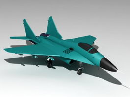 MiG-29 Soviet Fighter 3d model