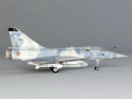 French Mirage 2000 Fighter 3d model