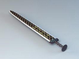 Bronze Sword 3d model