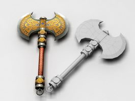 Dwarf Battle Axe 3d model