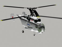 Russian Ka 27 Helicopter 3d model