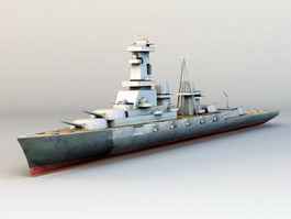 WWII Warship 3d model