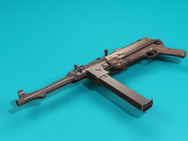 Nazi Germany MP38 Submachine Gun 3d model