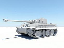 WW2 Tiger II Tank 3d preview
