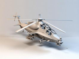 WZ-10 Attack Helicopter 3d model