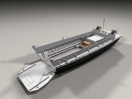 Amphibious Landing Craft 3d model