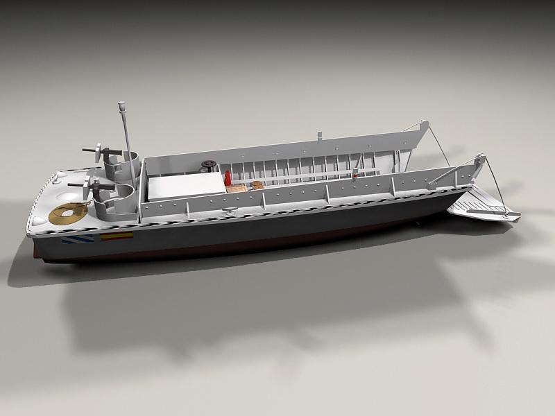 Amphibious Landing Craft 3d Model 3ds Max Files Free
