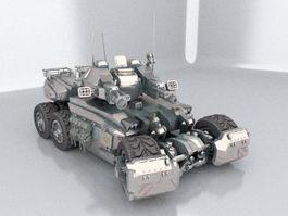 Future Combat Tank 3d model
