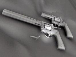 Western Revolver 3d model