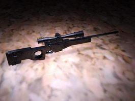Black Sniper Rifle 3d model