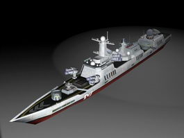 Navy Warship 3d model