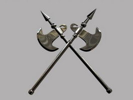 Spear Battle Axe 3d model