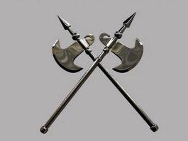Spear Battle Axe 3d model