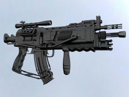 Tactical Assault Rifle 3d model