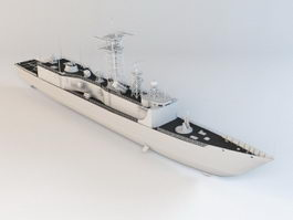 Modern Battleship 3d model