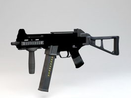 HK UMP Submachine Gun 3d model