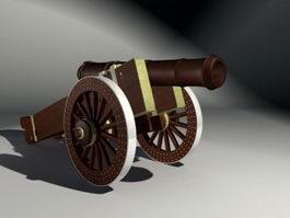 Civil War Cannon 3d model