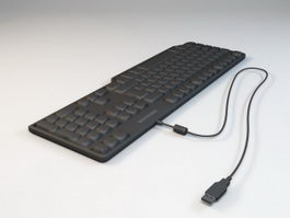 USB Computer Keyboard 3d model