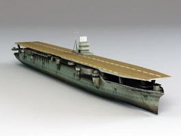 Japanese Aircraft Carrier Akagi 3d model
