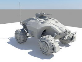 Sci-Fi Infantry Fighting Vehicle 3d model