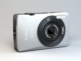Canon IXUS 75 Camera 3d model