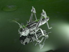 Robotic Locust Grasshopper 3d model