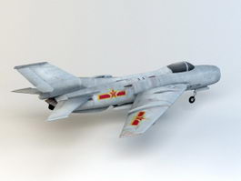 Chinese J-6 Fighter Aircraft 3d model