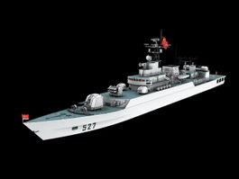 Chinese Navy Jiangwei Frigate 3d model