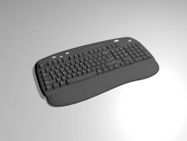 Ergonomic Keyboard 3d model