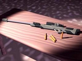 Long Range Rifle 3d model