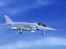 Modern Fighter Plane 3d model