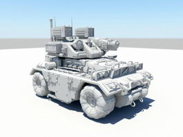 Sci-Fi Combat Vehicle 3d model