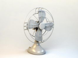 Small Desk Fan 3d model