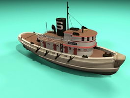 Old Tugboat 3d model