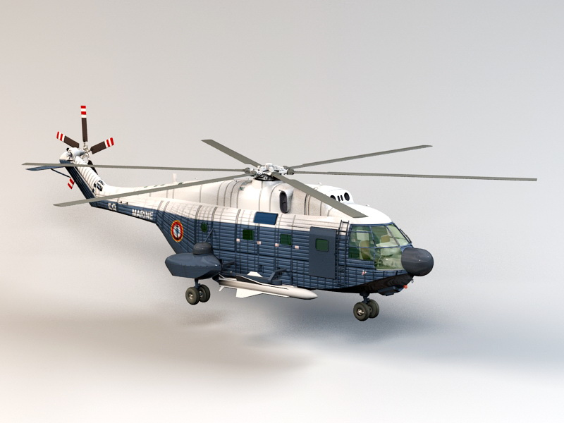 Super Frelon Helicopter 3d Model 3ds Max Files Free