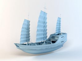 18th Century Merchant Ship 3d model