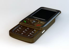Old Slide Phone 3d model